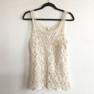 Pins & needles urban outfitters lace festival tank